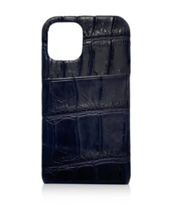 iPhone 12 Crocodile Belly Leather Case With Card