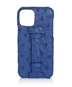 iPhone 12 Ostrich Leather Case With Handle